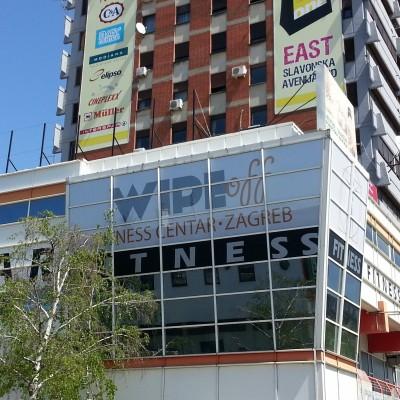 Prozorske grafike i samoljepljiva folija Fitness centar Wipe off Dubrava