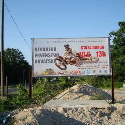 Reklamni pano digitalni tisak Motocross Marović