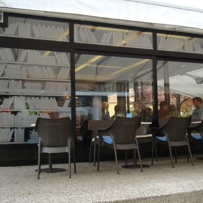Osilkavanje stakla caffe bar Stribor Bruno Dizajn